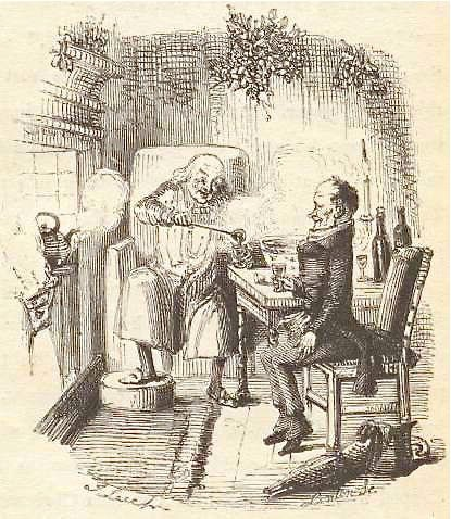 Scrooge and Bob Crachit illustration (source:  Tori Avey )