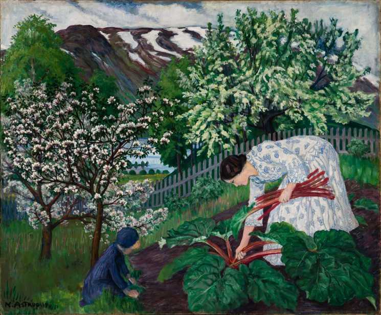 Nikolai Astrup, Rabarbra, 1911, oil on canvas