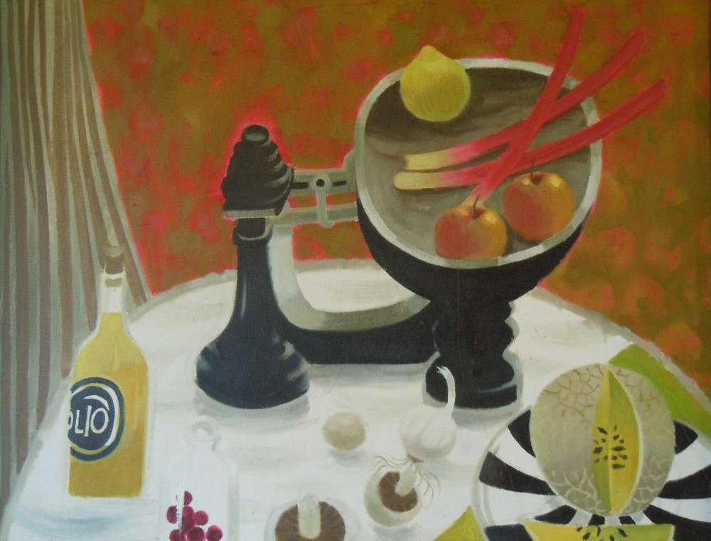 Mary Fedden, Still Life with Rhubarb, 2003