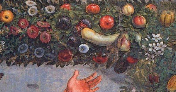 Mercury (detail), Giovanni da Udine from the Villa Farnesina, 1517.