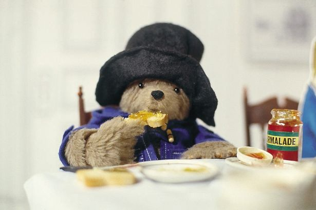 Paddington Bear enjoys marmalade from BBC1 television series 1976 onwards.