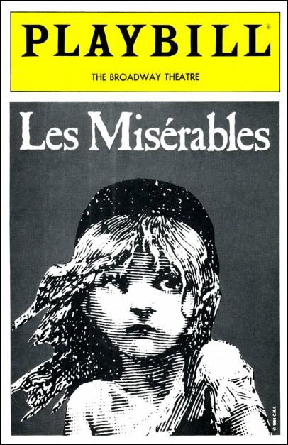 Les Misérables playbill based on Émile Bayard illustration