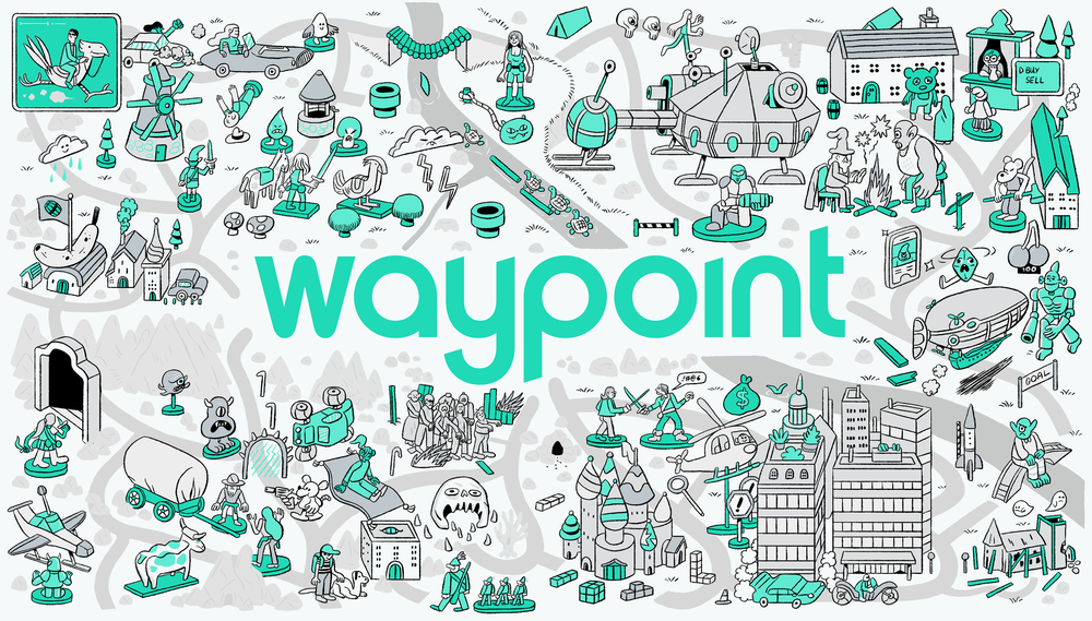Illustrated Identity for Waypoint from VICE