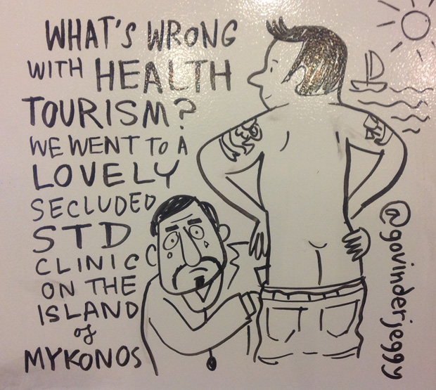 Nigel Farage drew the only gasp of the night when he suggested that foreigners with HIV should not receive NHS treatment. Meanwhile on twitter, @govinderjeggy pondered whether health tourism was really such a bad thing.