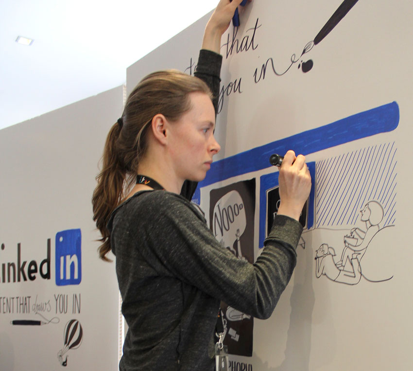 LinkedIn scriberia scribing graphic facilitation live drawing