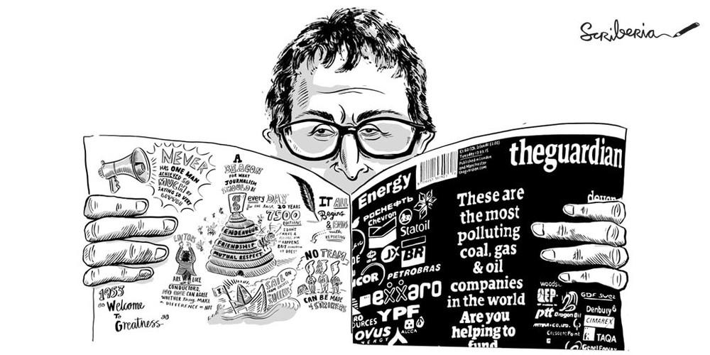 The man himself: Alan Rusbridger spent 20 years as editor of The Guardian