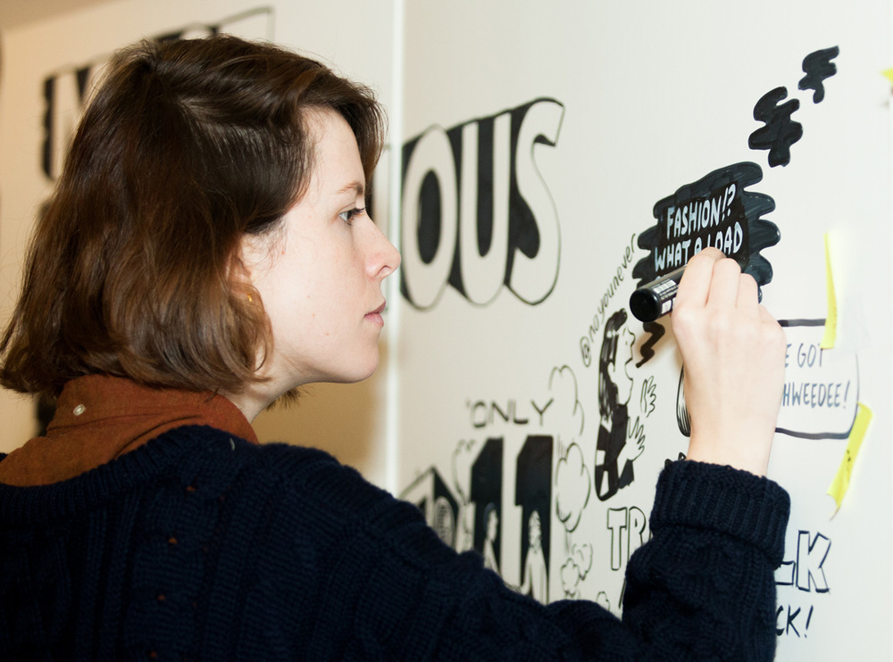Most Contagious scribing graphic facilitation live drawing