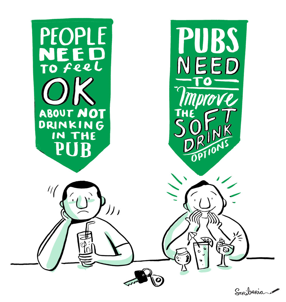 scriberia graphic facilitation need to feel ok about not drinking in pub