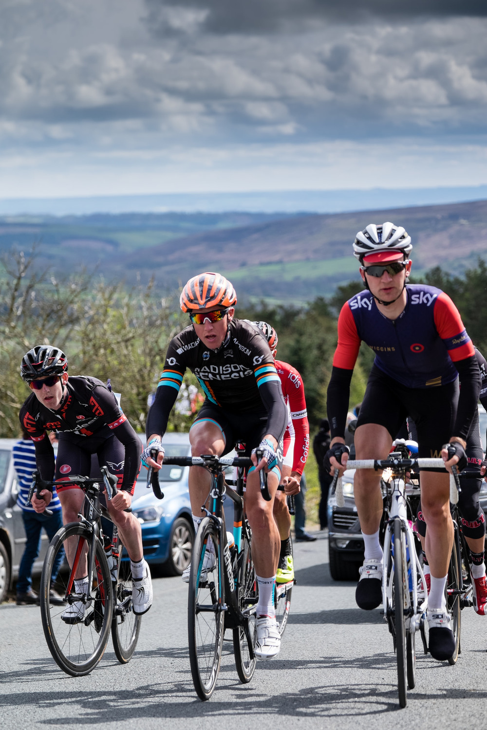 Tour de Yorkshire Rosedale Abbey Leaders