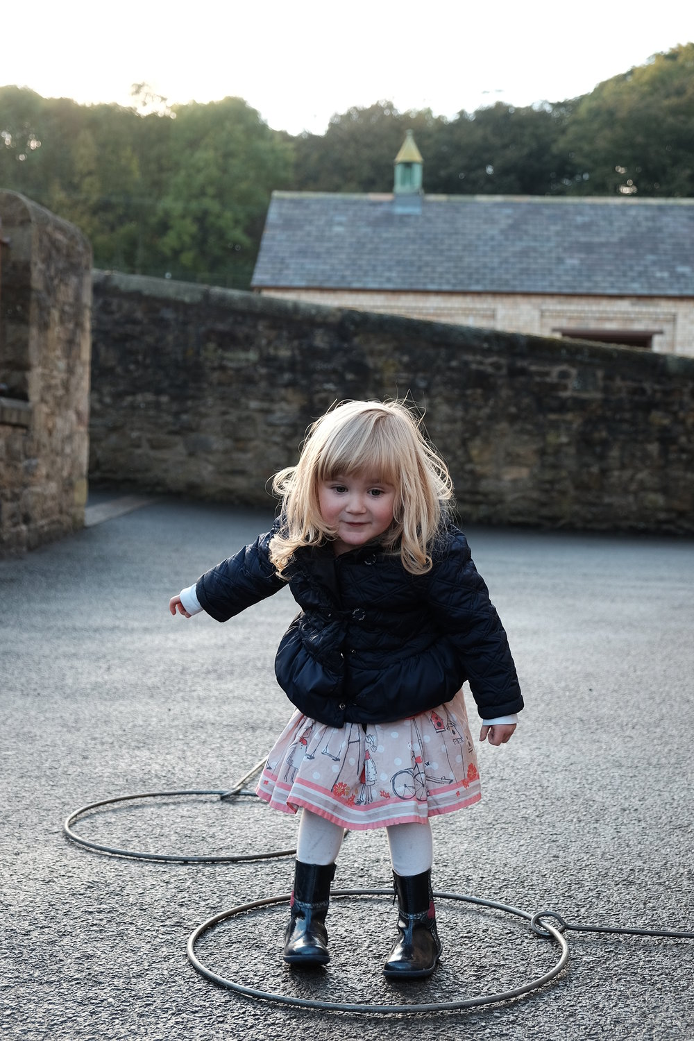 Sophie plays hoops at Beamish