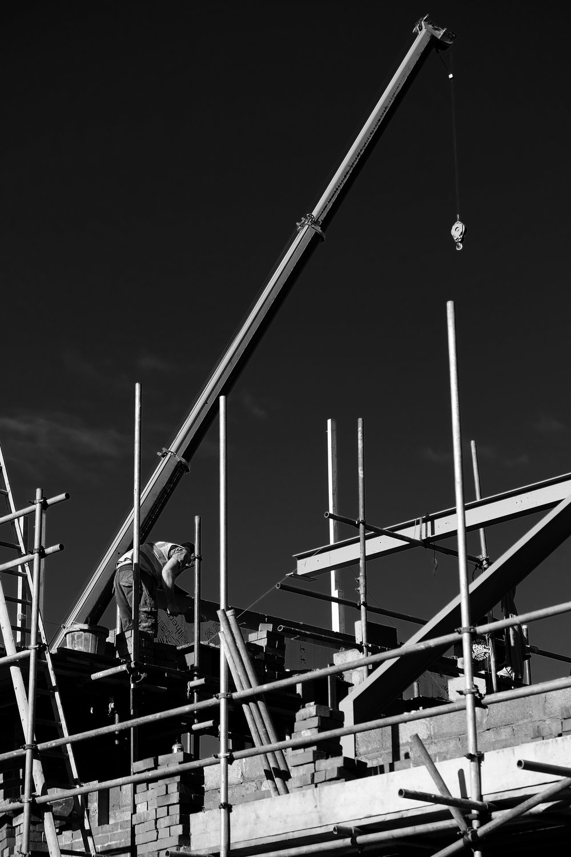 Building Site Monochrome