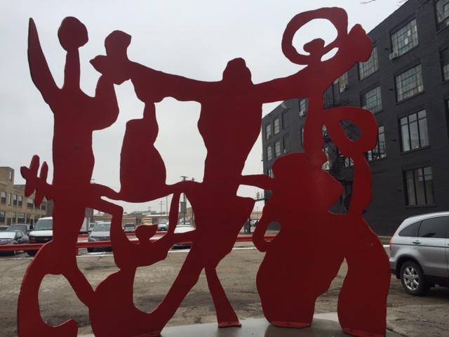 Sculpture outside Zhou B Art Center