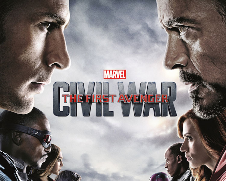Captain America: Civil War - With many people fearing the actions of super heroes, the government decides to push for the Hero Registration Act, a law that limits a hero's actions. This results in a division in The Avengers. Iron Man stands with this Act, claiming that their actions must be kept in check otherwise cities will continue to be destroyed, but Captain America feels that saving the world is daring enough and that they cannot rely on the government to protect the world. This escalates into an all-out war between Team Iron Man (Iron Man, Black Panther, Vision, Black Widow, War Machine, and Spider-Man) and Team Captain America (Captain America, Bucky Barnes, Falcon, Scarlet Witch, Hawkeye, and Ant Man) while a new villain emerges.Rated PG-13 for extended sequences of violence, action and mayhemSaturday, June 10  |  8 PM