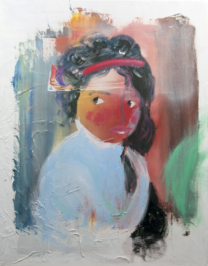 "Gnossiennes No. 5, after ""Julie LeBrun as a Bather"" by Elizabeth Louise Vigée LeBrun"