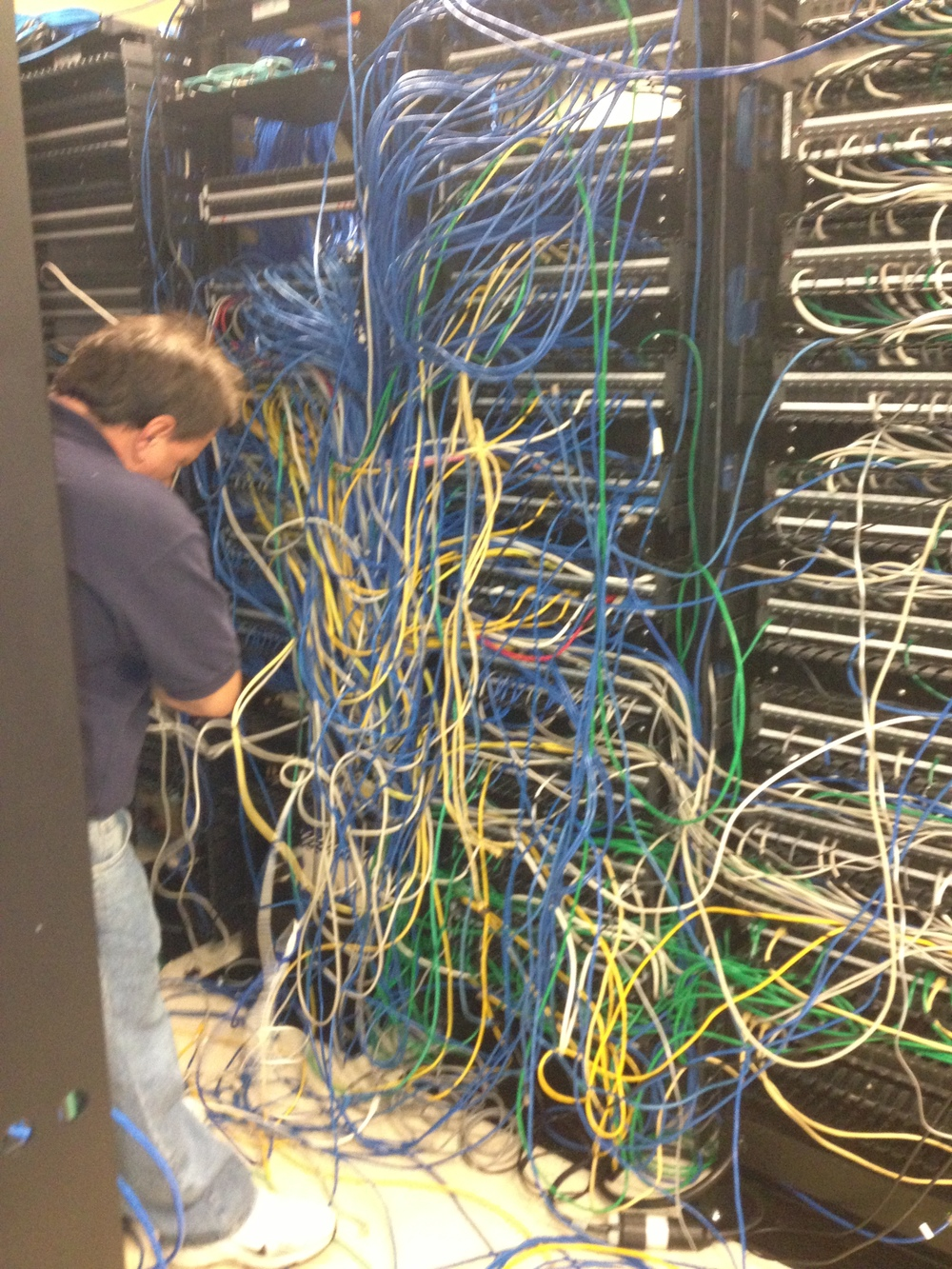 Server Equipment Room Cleanup Connectivity Llc Structured Cabling Wiring A Network Cable Before