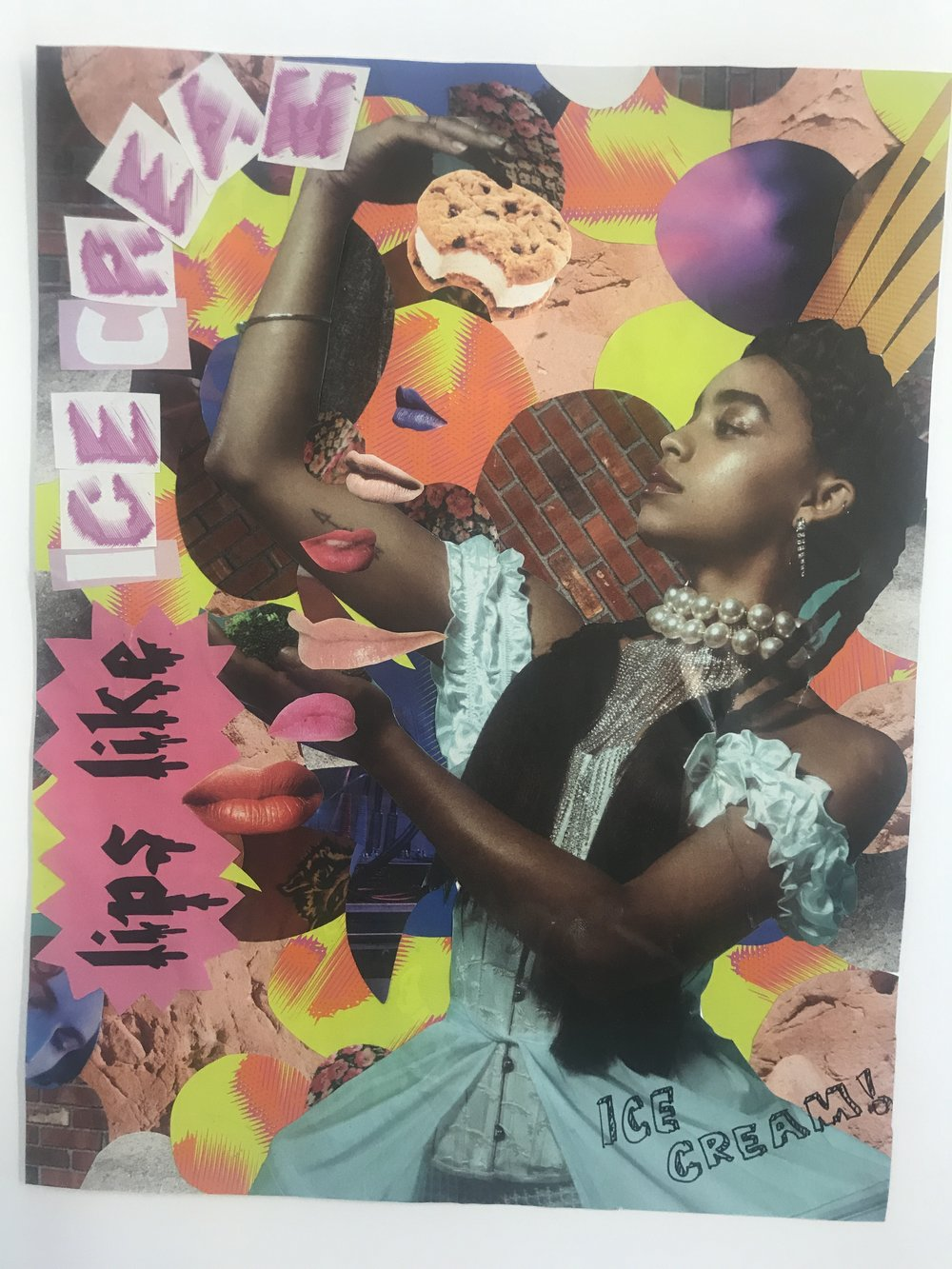 When an editor at Nylon Magazine expressed her love for ice cream, we nodded to  Nylon's love of collages  and sent one of our own. With plenty of Ice cream of course.