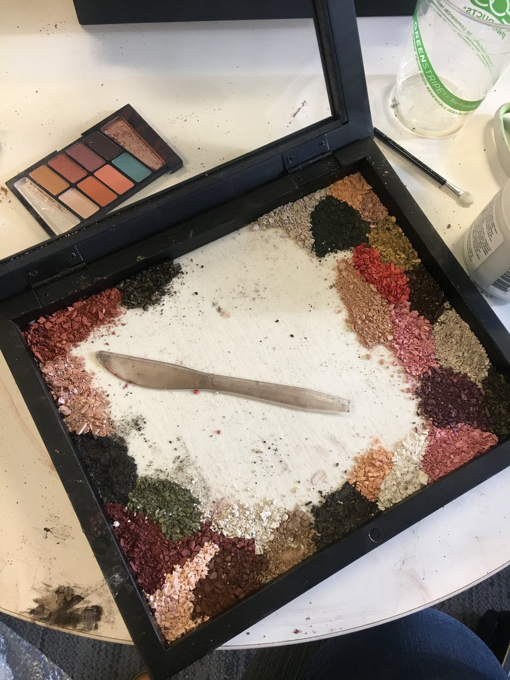 - This project took 67 eyeshadow palettes to complete. And meant hours of crushing and crumbling powdered makeup.