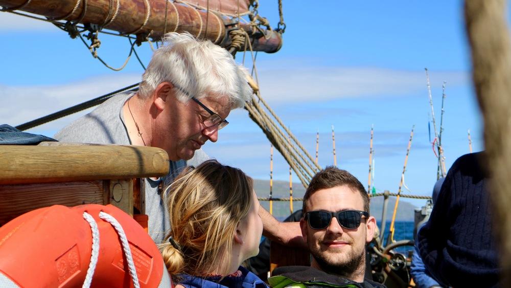 Hands, friends and skipper: Birgir Enni,Petra Mathilde Jørs and Petur Vágsgarð