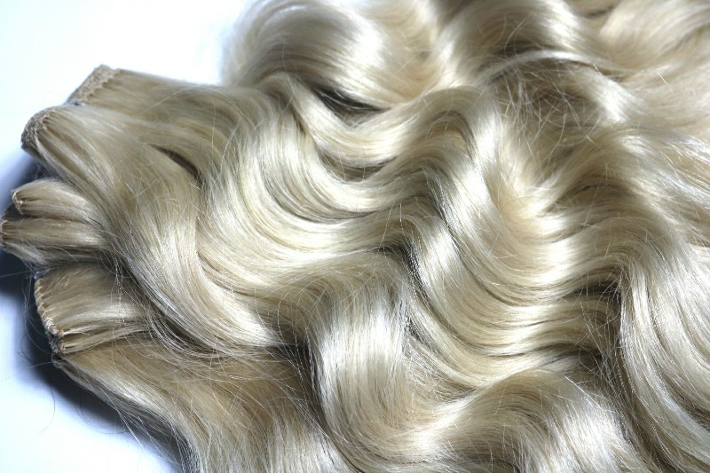 Ice Blond Hair Extensions