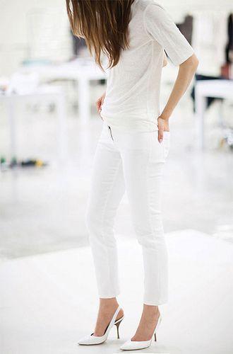 Lovingthe idea of an  all-white ensemble .