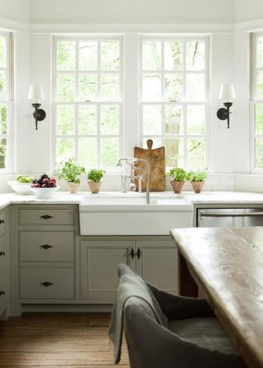 My favourite  Pinterest photo  is this modern take on the farmhouse kitchen.