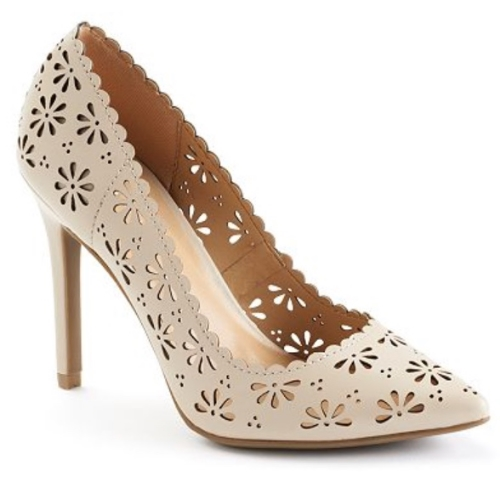 1. Lazer Cut Heels -  LC Lauren Conrad for Kohls