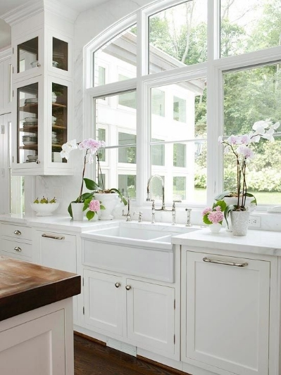On  Pinterest  - Wouldn't mind doing the dishes in front of these windows.