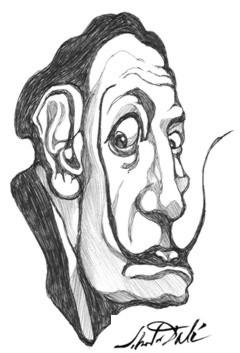 Dali Drawing by MikeMuir.JPG