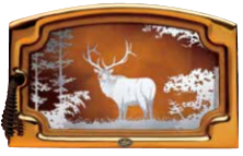 Elk Scene Etched Glass