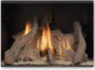 Driftwood Logs With Crushed Fire Glass