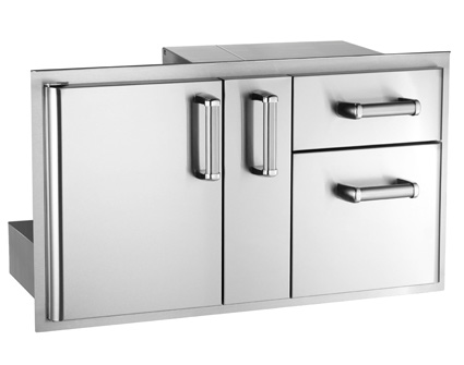 Access Door with Platter Storage and Double Drawer