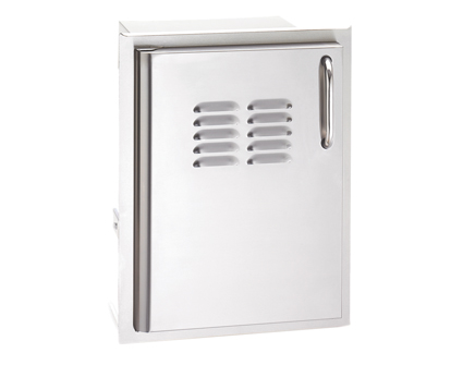 Single Access Door with Tank Tray and Louvers