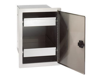 Single Door with Dual Drawers
