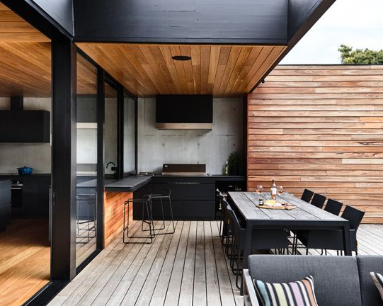 Masculine - Stunning contemporary coastal home which saw native emotive plants soften the homes masculine form and help connect it to it's laid back beachside setting.