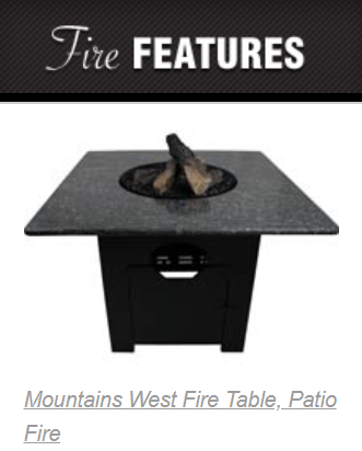 - Add ambiance and warmth with and outdoor fire place or fire table!