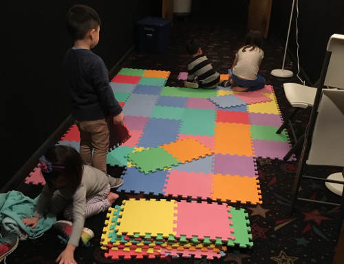 a cute pic of our kids getting the nursery ready for service - all hands on deck!