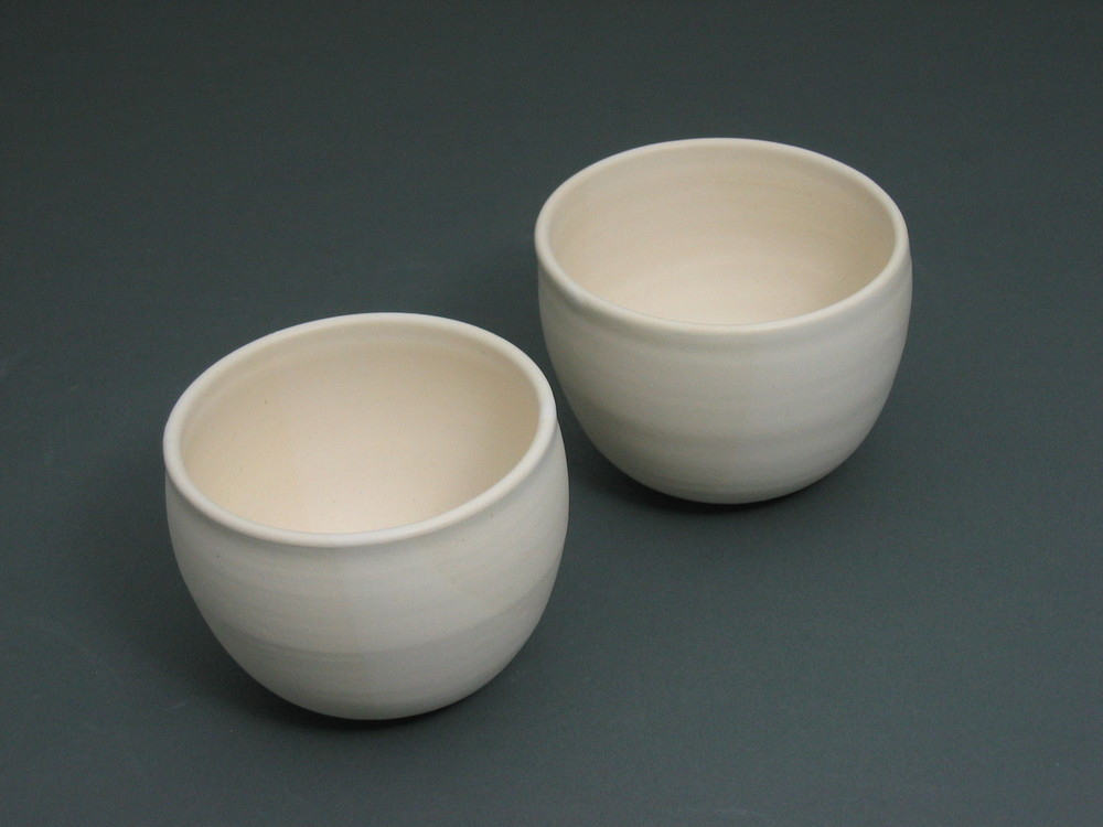 2 White Palm Cups $15 each