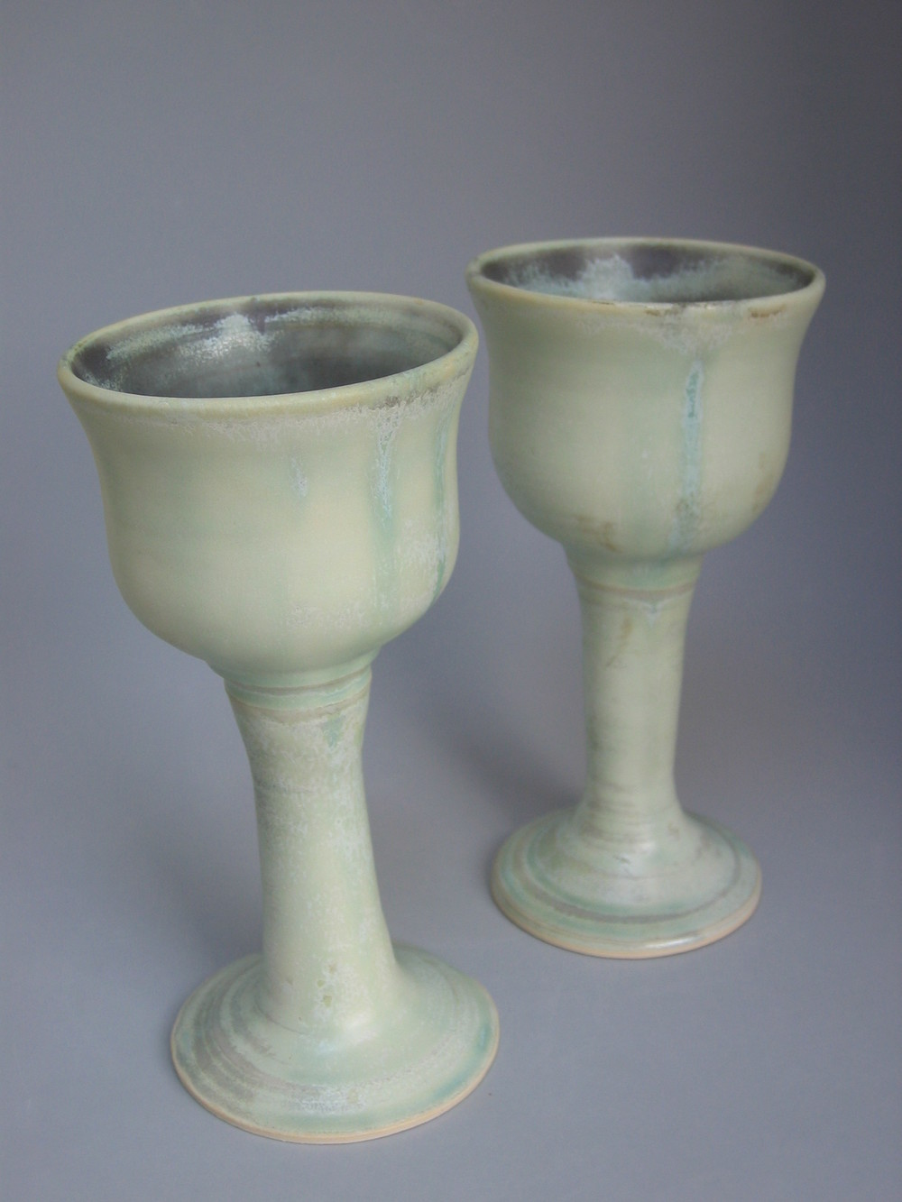 2 Green Goblets $20 each