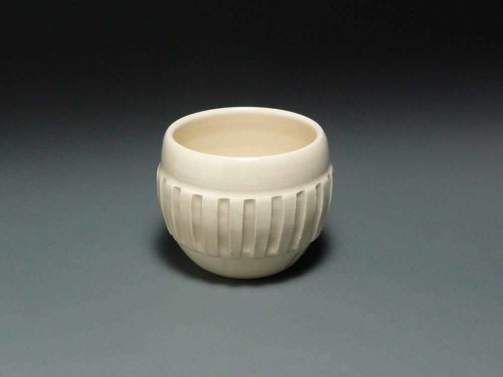 Notched White Cup $20