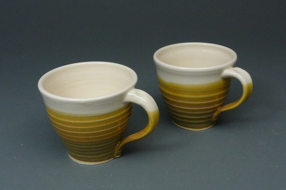 Two Ribbed Mugs $20 each
