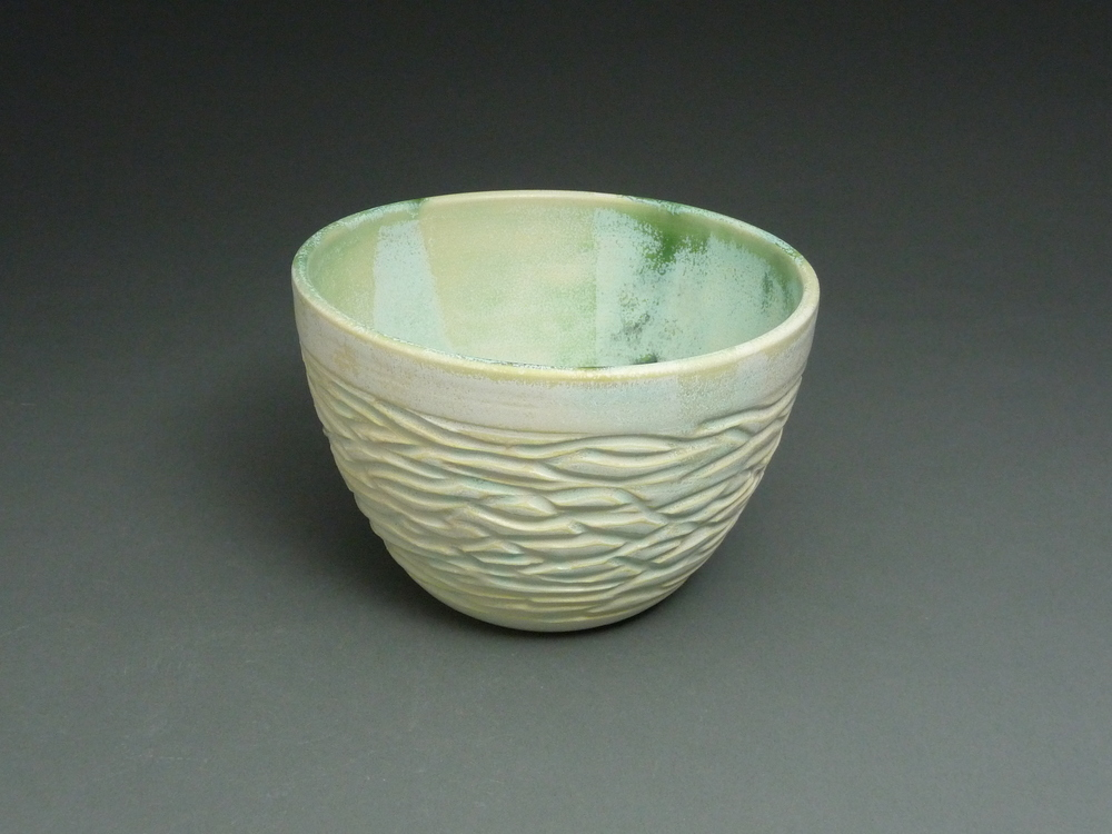 Carved Green Bowl