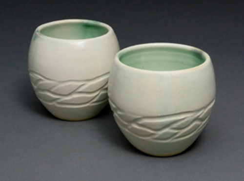 2 Green Wave Cups