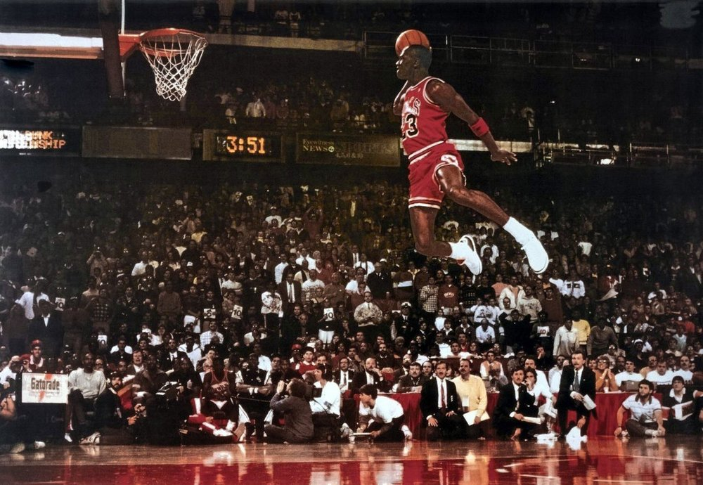 TIM YU DOUBLE OR NOTHING MICHAEL JORDAN DUNKING