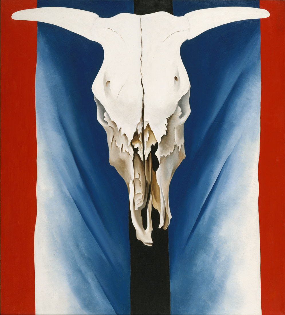 GEORGIA O'KEEFFE COW SKULL RED WHITE AND BLUE