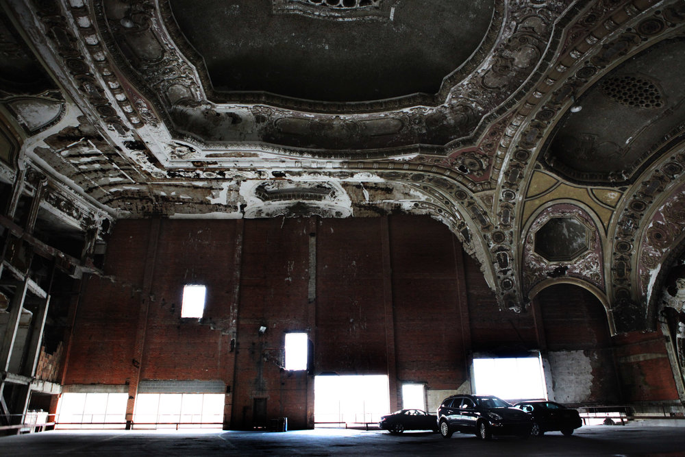 Michigan Central Theater, Now a Parking Lot, Detroit