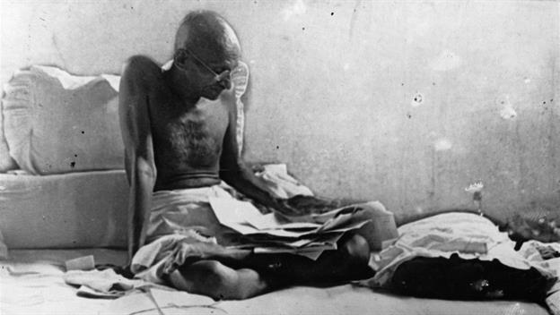 Mahatma Gandhi begins a fast in protest of caste separation, 1932.