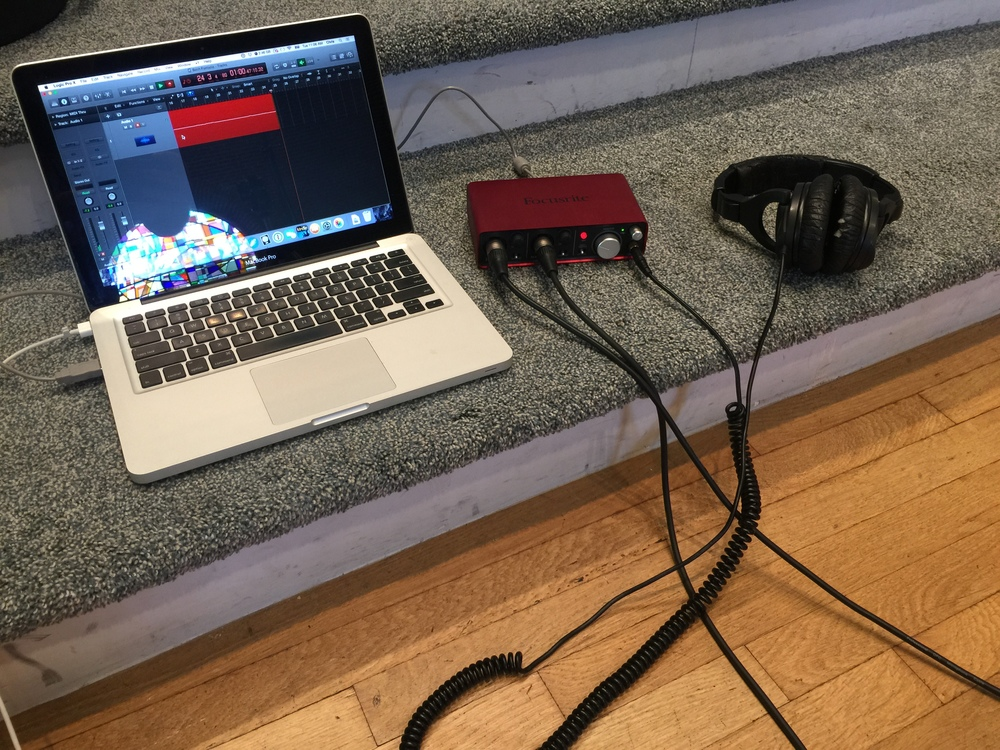 Simple setup for our audio!