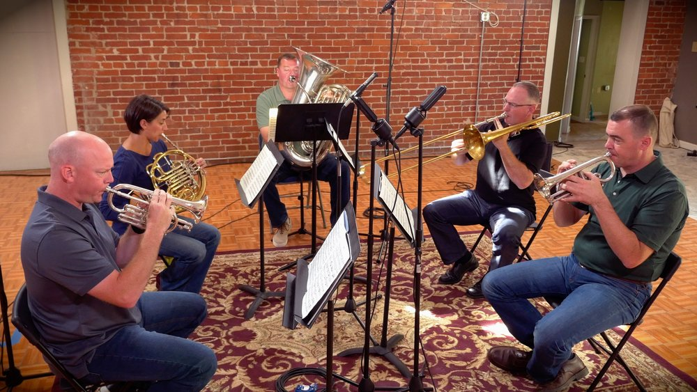 Valor Brass recording with Arts Laureate