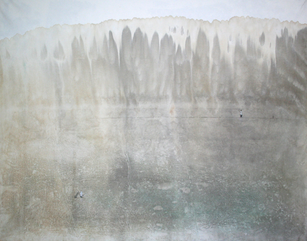 Memory Traces _ River   130x162cm  mixed media  2006