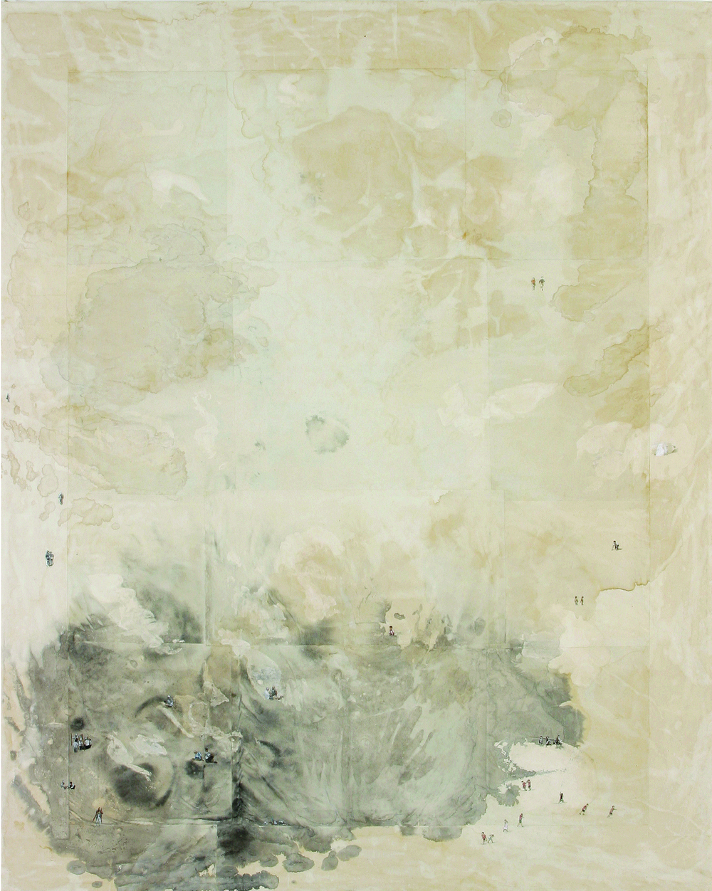 Memory Traces _The Natural Mind (心前)   162x130cm  mixed media  2006